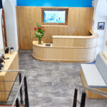 Our new reception area - photo by Sarah Deane Photography
